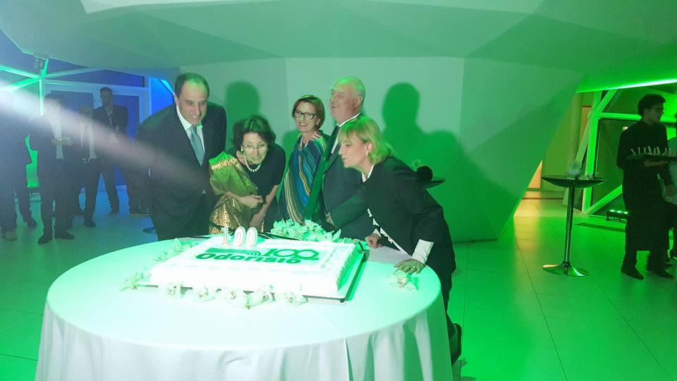 la festa per il centenario di odorisio spa accende roma
